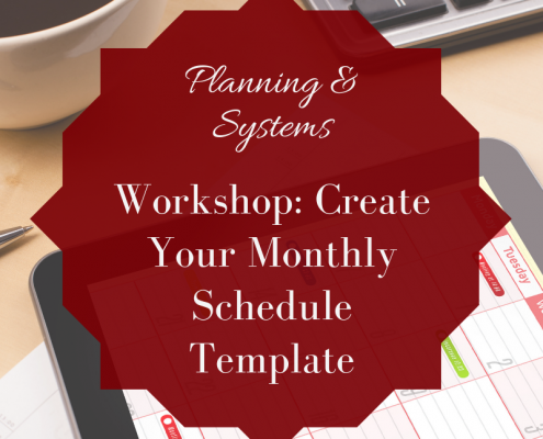 create your template schedule workshop