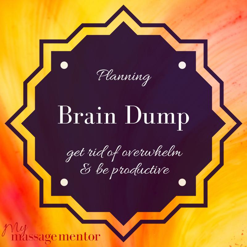 brain dump graphic